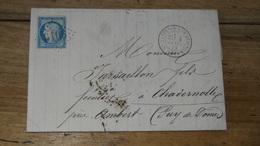 Lettre Cachet SAINT SATURNIN LES AVIGNON, GC6106, De 1874 .................... MK-2282 - Marcophilie (Lettres)