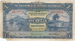 Trinidad Y Tobago 1 Dollar 2-1-1939 Pk 5 B Ref 2 - Trinidad & Tobago