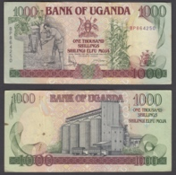 Uganda 1000 Shillings 1991 (VF+) Condition Banknote P-34b - Uganda