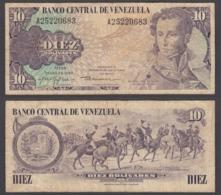 Venezuela 10 Bolivares 1980 (F) Condition Banknote KM #57 - Venezuela