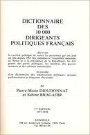Dictionnaire De La Politique Française - Dictionaries