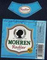Autriche Lot 2 Etiquettes Bière Beer Labels Mohrenbräu Mohren Saurer Radler Sauer Bouteille PET - Bière