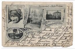 3030f: AK Altösterreich, Sudetenland, Porstendorf, Mährisch Trübau, Schönhengstgau 1904- Nach Südafrika !! - Tschechische Republik