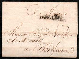 MP33-11 : D'Angleterre 1756 Pour Bordeaux Dept 33 (Gironde) Taxe Manuscrite 17 - Marcofilie (Brieven)