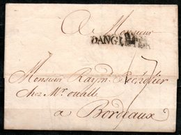 MP33-11 : D'Angleterre 1756 Pour Bordeaux Dept 33 (Gironde) Taxe Manuscrite 17 - Entry Postmarks