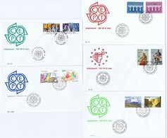 Iceland Europa - CEPT; 1984, 1985, 1986, 1987 And 1989; 5 Complete Set Of 2 On FDC - Autres
