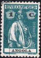 ANGOLA, COLONIA PORTOGHESE, PORTUGUESE COLONY, CERES, 1 C., 1924, USATO Mi. 144 Cy,  Scott 158,  YT 144 (a) - Angola