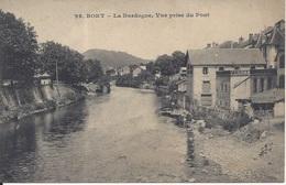 CPA  France    19  Corrèze   Bort Les Orgues  La Dordogne  Vue Prise Du Pont - France