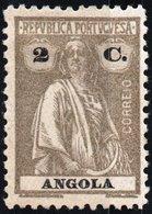 ANGOLA, COLONIA PORTOGHESE, PORTUGUESE COLONY, CERES, 2 C., 1925, NUOVO (MLH*) Mi. 203C,  Scott 158E,  YT 203, Afi 212 - Angola