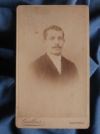 Photo CDV Gallas à Chartres - Portrait Nuage Homme, Circa 1895 L436G - Fotos