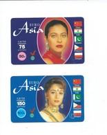 ASIE ASIA Télécarte Prépayée Usagée X 2 TB 2 Scans - Télécartes