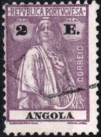 ANGOLA, COLONIA PORTOGHESE, PORTUGUESE COLONY, CERES, 2 E., 1923, USATO Mi. 223C,  Scott 159E,  YT 222(A - Angola