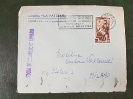 (33624) FRONTESPIZIO STORIA POSTALE ITALIA 1952 - 6. 1946-.. Repubblica