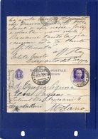 ##(DAN195)-1932-Biglietto Postale Cent.50 Formato Piccolo, Indirizzo Su Tre Righe Da  Crespano Del Grappa Per Milano - 1900-44 Vittorio Emanuele III