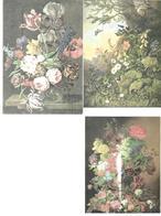 3030v: 3 Gemälde- AKs Blumen Aus österreichischen Galerien, Ungelaufen - Malerei & Gemälde