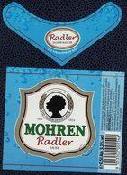 Autriche Lot 2 Etiquettes Bière Beer Labels Mohrenbräu Mohren Saurer Radler Sauer - Bière