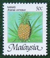 50c Nanas Ananas Comosus Fruits Pineapple 1986 Mi 331 Y&T 344 Used Gebruikt Oblitere MALAISIE MALAYA MALAYSIA - Malaysia (1964-...)