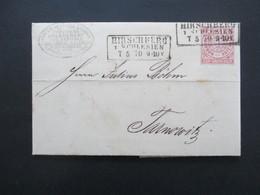AD NDP 1870 Nr. 16 EF Mit Stempel K3 Hirschberg Schlesien Mit Inhalt! Firmenstempel Holzcement Nach Tarnowitz - Norddeutscher Postbezirk (Confederazione Germ. Del Nord)