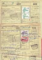 P-258 - Documents CF - Grande Vitesse - Expres - Ijlgoed - Oblitérations Différentes De 1957 - Railway