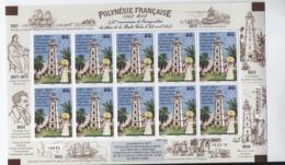 F18) Polynésie 2018 Phare Pointe Vénus X10 Neufs °° Mnh Feuille Complète - Polynésie Française