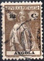 ANGOLA, COLONIA PORTOGHESE, PORTUGUESE COLONY, CERES, 12 C., 1922, USATO Mi. 210C,  Scott 158P,  YT 210(A) - Angola