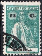ANGOLA, COLONIA PORTOGHESE, PORTUGUESE COLONY, CERES, 12 C., 1925, USATO Mi. 211C,  Scott 158Q,  YT 211, Afi 213 - Angola