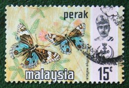 15c Perak Butterflies Vinder Schmetterling Papillon 1971 Mi 127 Y&T - Used Gebruikt Oblitere MALAISIE MALAYA MALAYSIA - Malaysia (1964-...)