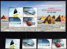 AUSTRALIAN ANTARCTIC, AAT, 2019, MNH, CASEY RESEARCH STATION, 6v+SHEETLET - Philatélie Polaire