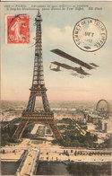 (C).Paris.Aeroplano Militare Sulla Torre Eiffel.Timbro Dell'agosto 1912 (c17) - Tour Eiffel