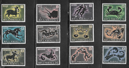 1972 Zodiac, Set Of 12, Mint Never Hinged - San Marino