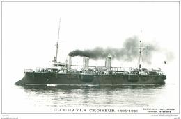 BATEAUX.N°23533.CP PHOTO MARIUS BAR.DU CHAYLA CROISEUR 1895 1921 - Ships