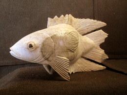 Sculpture POISSON Fish Fishing Fisch Fischerei Peche Déco Bois Decoration ! - Wood