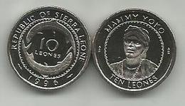 Sierra Leone 10 Leones 1996. UNC - Sierra Leona