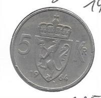Noorwegen - 5 Kroner - 1964 - KM 412 - Norvège