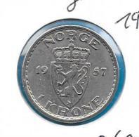 Noorwegen - 1 Krone - 1957 - KM 397 - Norvège