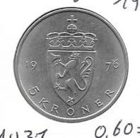 Noorwegen - 5 Kroner - 1976 - KM 420 - Norvège