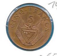 Rwanda - 5 Francs - 1977 - KM 13 - Rwanda