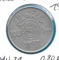 Saudi-Arabie - 100 Halalas - 1976 - KM 52 - Arabia Saudita