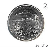 USA Glacier - Quarter Dollar - 2011D - KM 495 - Émissions Fédérales