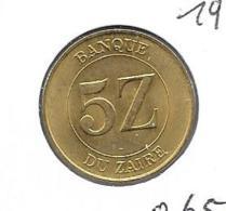 Zaïre - 5 Zaires - 1987 - KM 14 - Zaïre (1971-97)