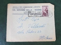(33631) FRONTESPIZIO STORIA POSTALE ITALIA 1951 - 1946-60: Marcophilia