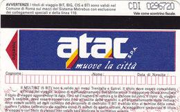 ROMA  /  A.T.A.C. _ Biglietto - Europa