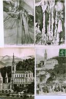 65 - LOURDES - 8 Cartes De La Basilique Et Grottes Du Loup - Lourdes