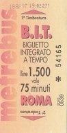 ROMA  / Biglietto Integrato A Tempo - Railway