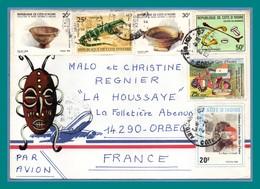 Lettre Côte D' Ivoire 1990 TP 6 Divers > France Orbec - Ivory Coast (1960-...)