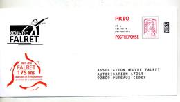 Pap Reponse Ciappa Oeuvre Falret - Postal Stamped Stationery