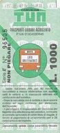 AGRIGENTO  / Biglietto Di Corsa Semplice Da Lire 1000 - Europa