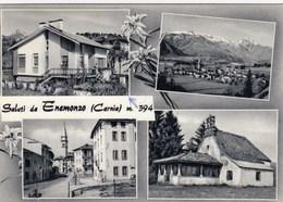 ENEMONZO-UDINE-MULTIVEDUTE(4 IMMAGINI)-CARTOLINA VERA FOTOGRAFIA VIAGGIATA  IL 3-8-1966 - Udine