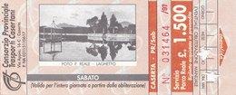 CASERTA  / Biglietto _ Servizio Parco Reale - Railway