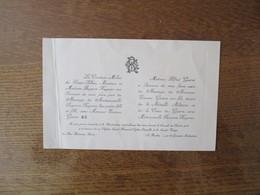 PARIS 19 OCTOBRE 1918  MADEMOISLLE SUZANNE RUYSSEN AVEC MONSIEUR ETIENNE GUERET MEDAILLE MILITAIRE ET CROIX DE GUERRE - Wedding